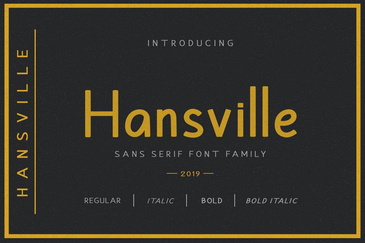 Hansville - Sans Serif example image 1