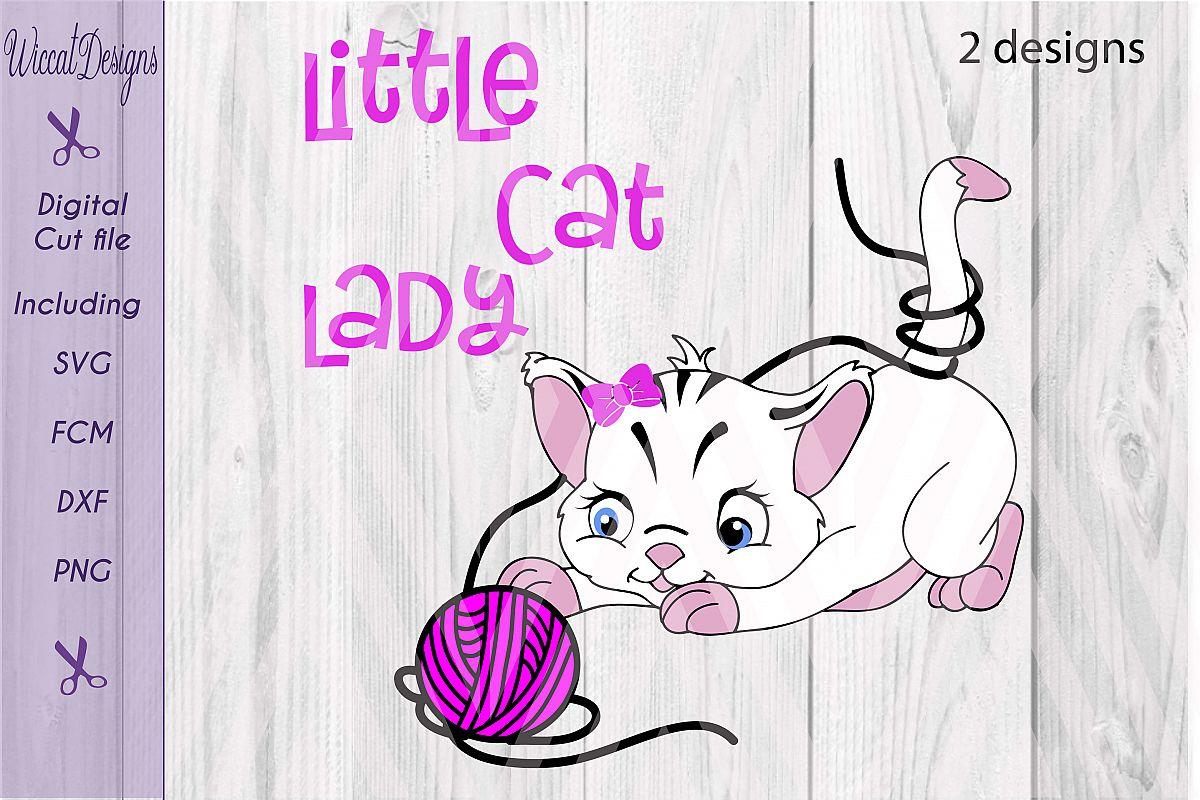 Little Cat Lady svg, digital cut file example image 1