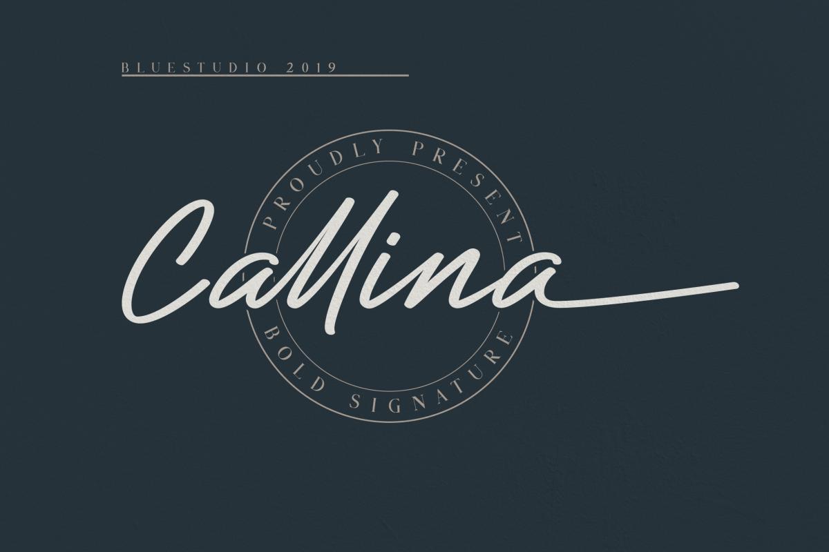 Callina // Bold Signature example image 1