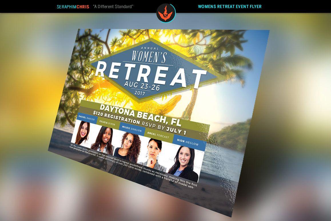 women s retreat flyer photoshop template
