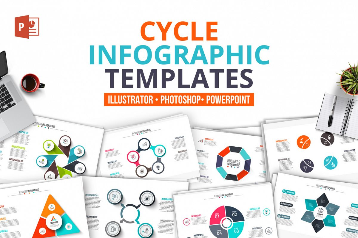 60 Ppt Cycle Infographics