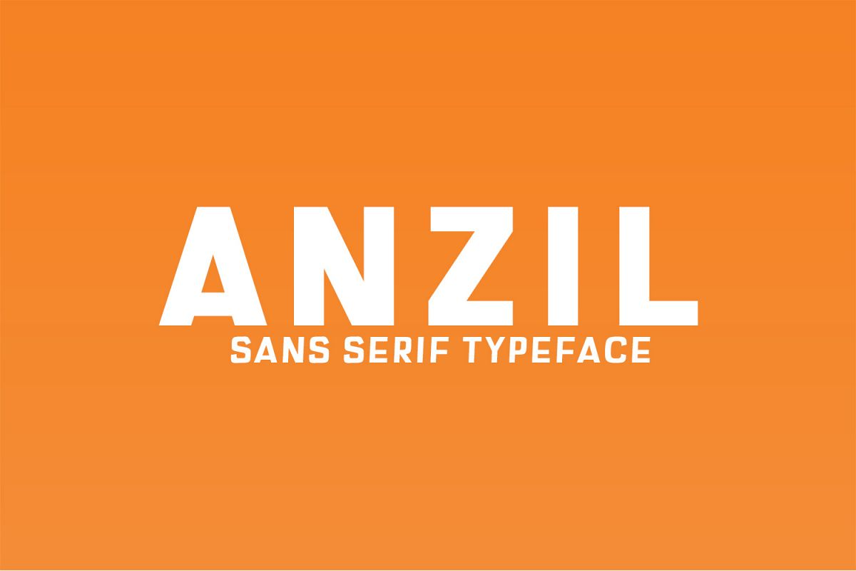 Anzil Sans Serif Typeface example image 1
