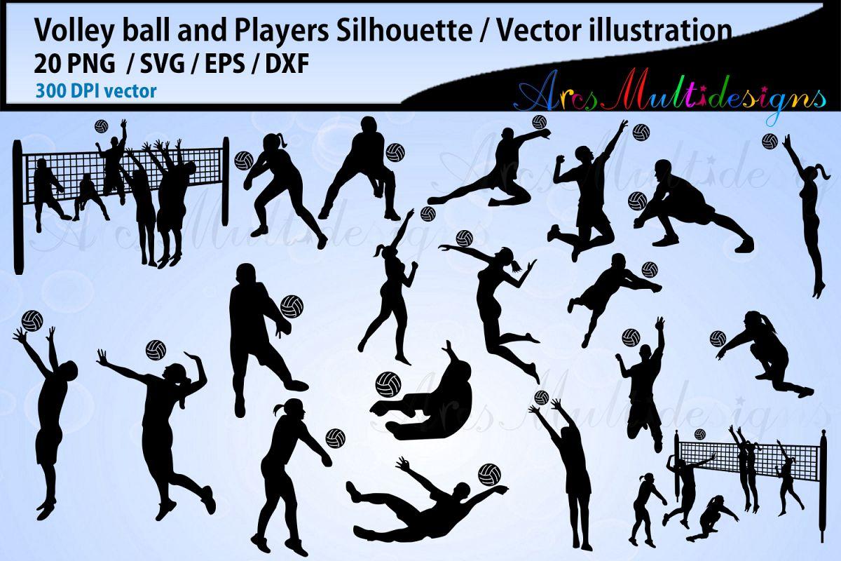 Volley ball , volley ball silhouette, volley ball svg example image 1