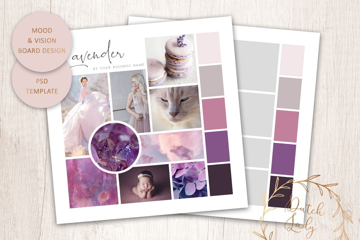 PSD Mood & Vision Board - Adobe Photoshop Template - #9 example image 1