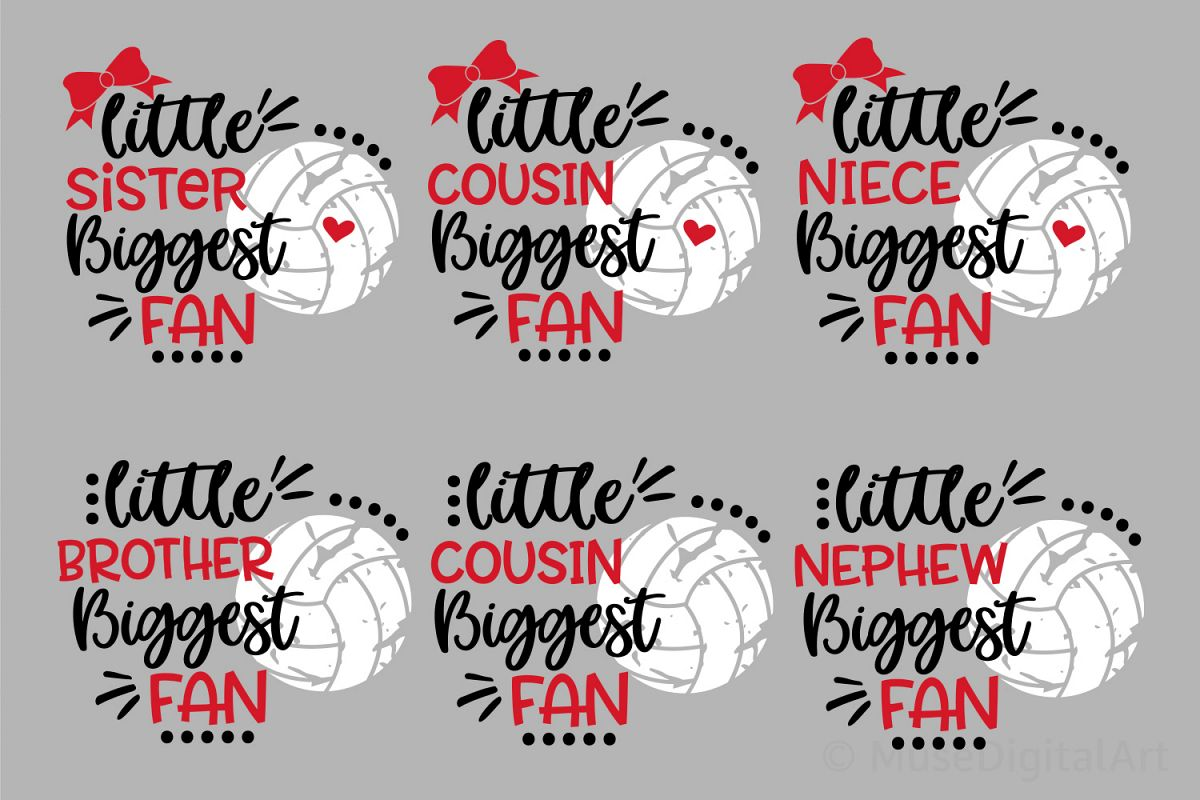 Volleyball Svg Bundle, Biggest Fan Svg Girl Volleyball Shirt example image 1