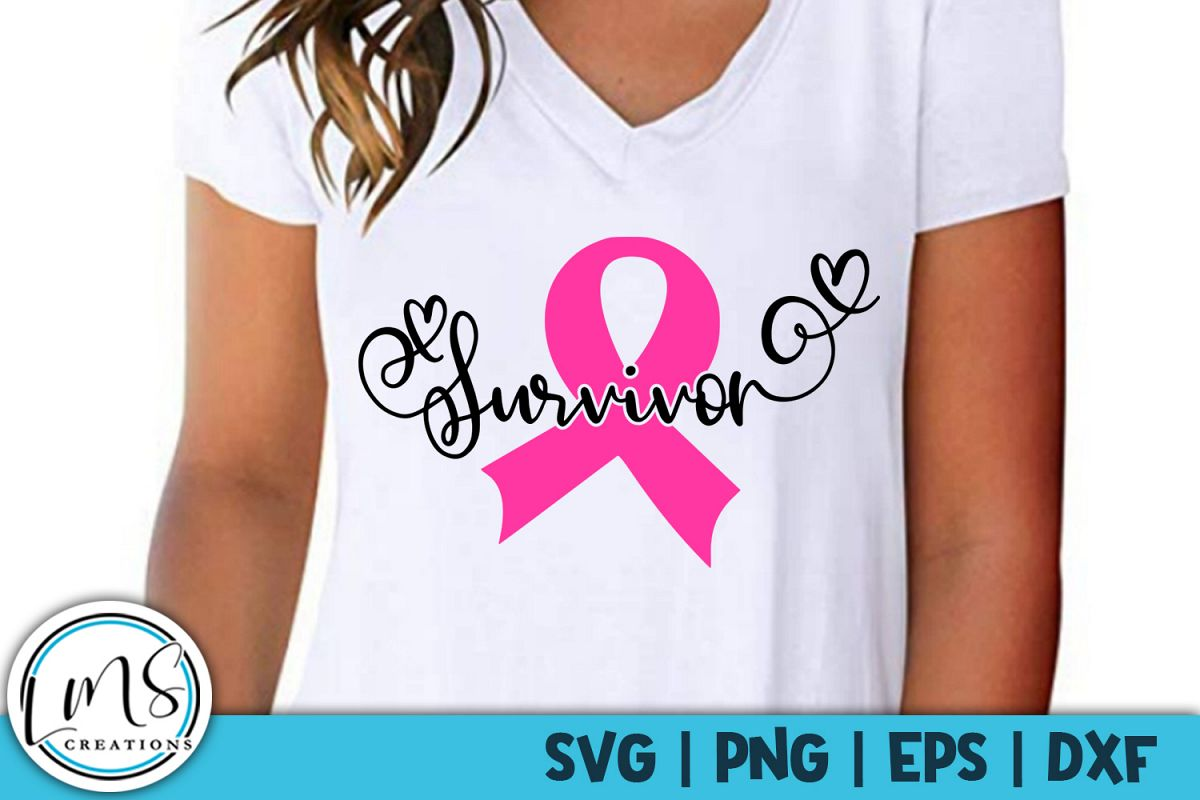 Survivor - Breast Cancer Awareness - SVG, PNG, EPS, DXF example image 1