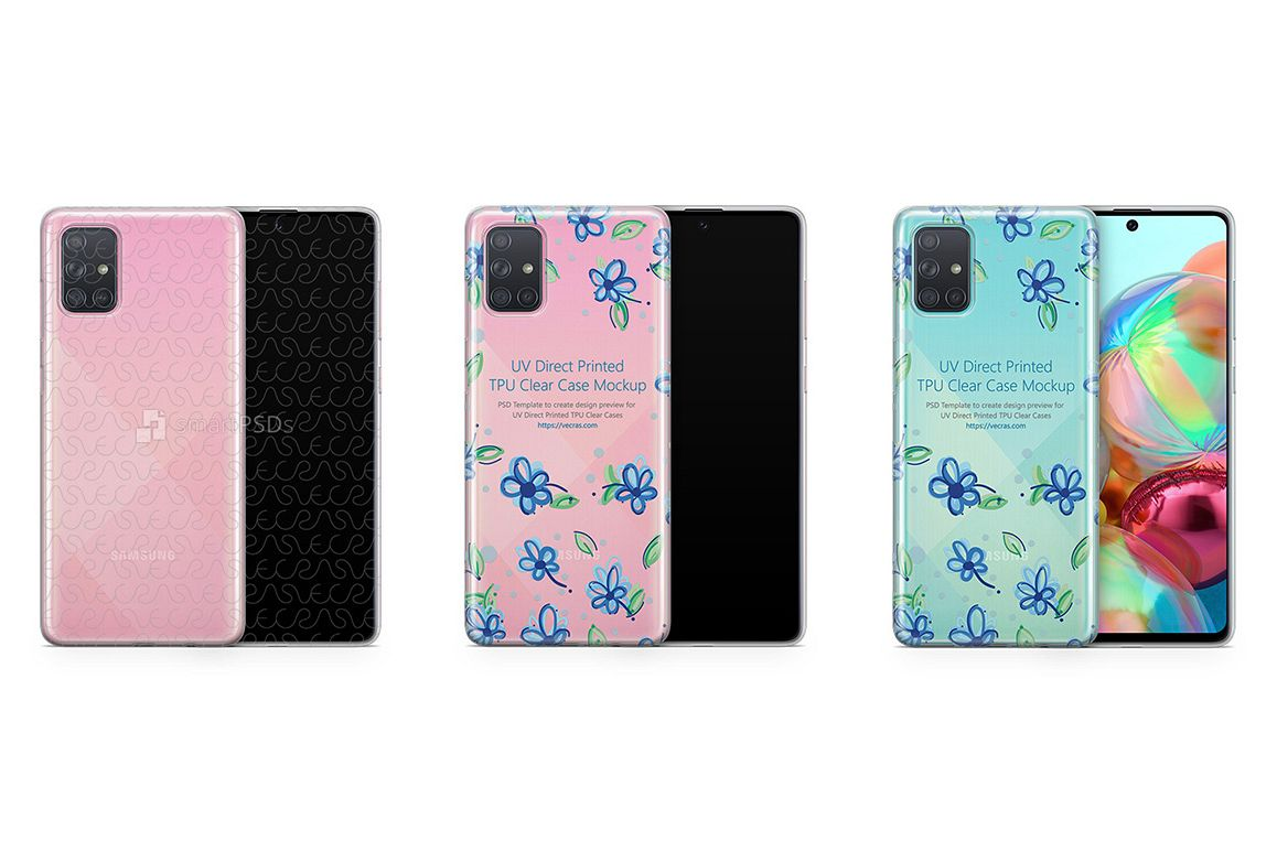 Galaxy A71 2019 TPU Clear Case Mockup example image 1