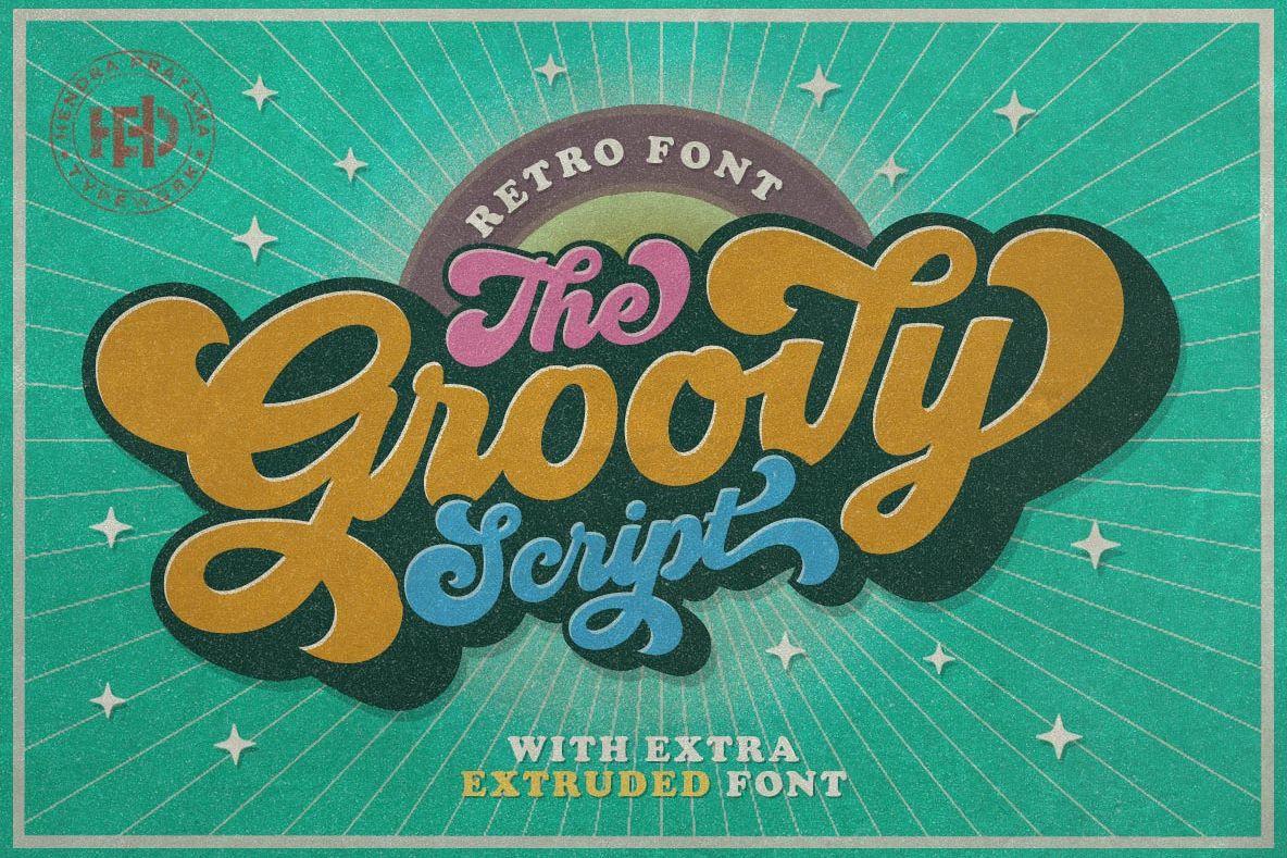 Groovy - Retro Font example image 1