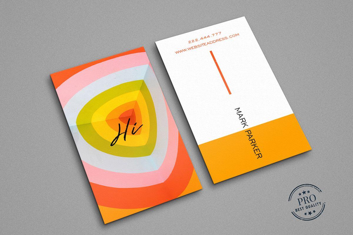 Beautiful orange colour business card beautiful orange colour business card example image 1 colourmoves
