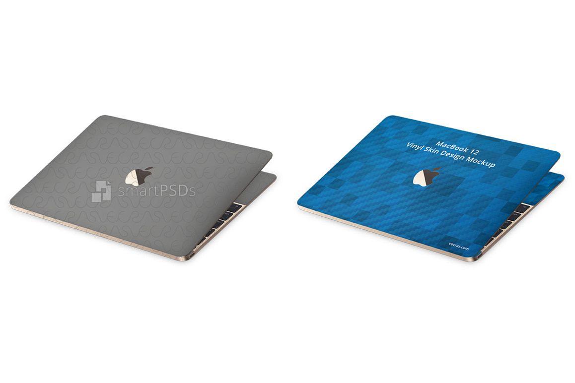 Apple MacBook 12-inch Vinyl Skin Design Mockup 2017 example image 1