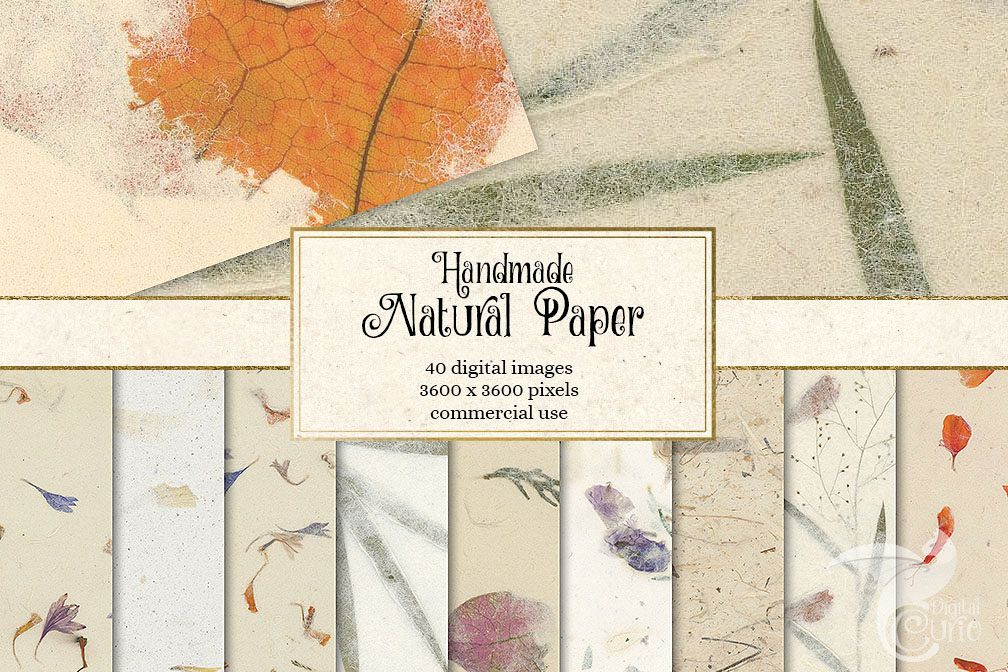 Handmade Natural Paper Textures example image 1