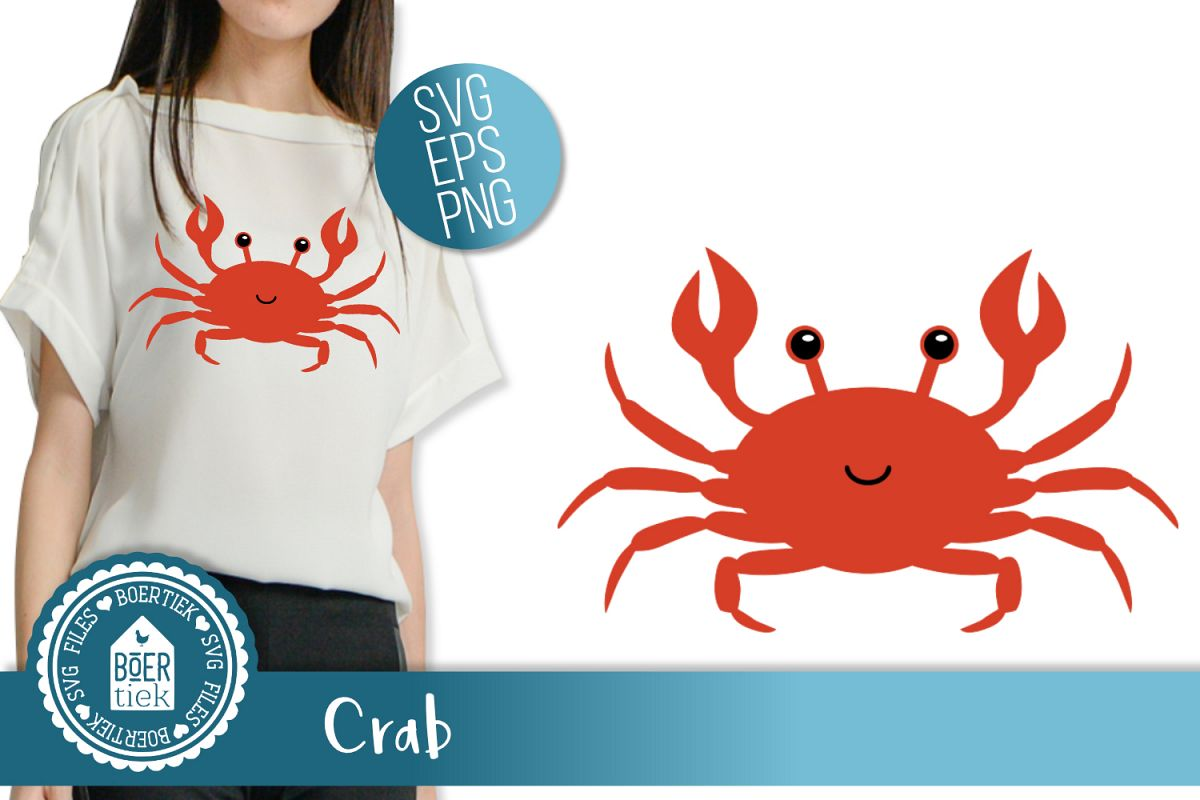 Crab, SVG cutting file example image 1