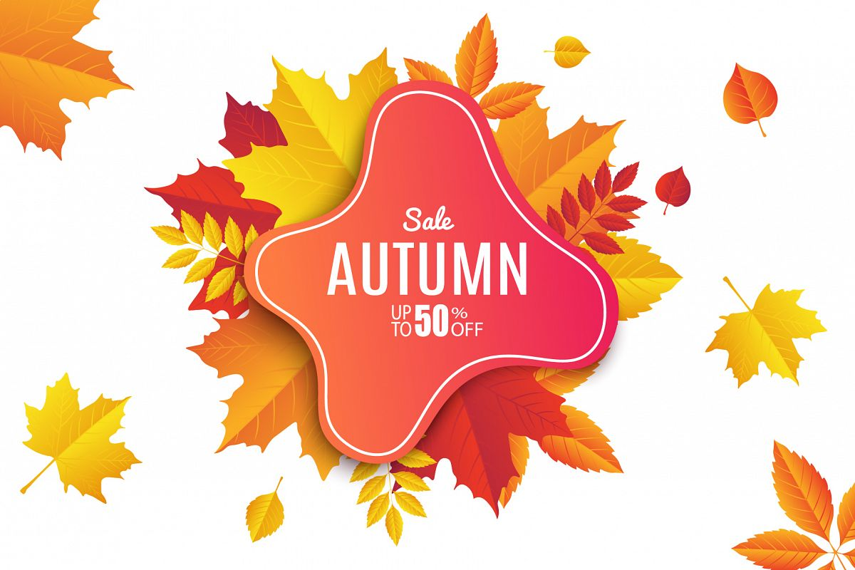 Autumn Sale. Abstract Banners example image 1