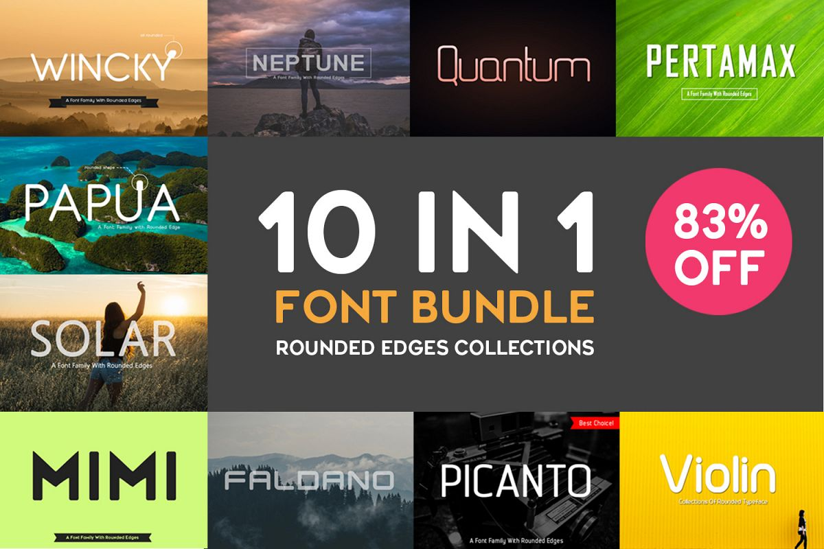 10 In 1 Bundle Font - 83% Off example image 1
