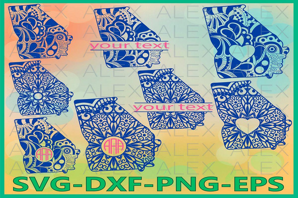 Georgia State SVG, Georgia Mandala SVG, Georgia Svg Files example image 1