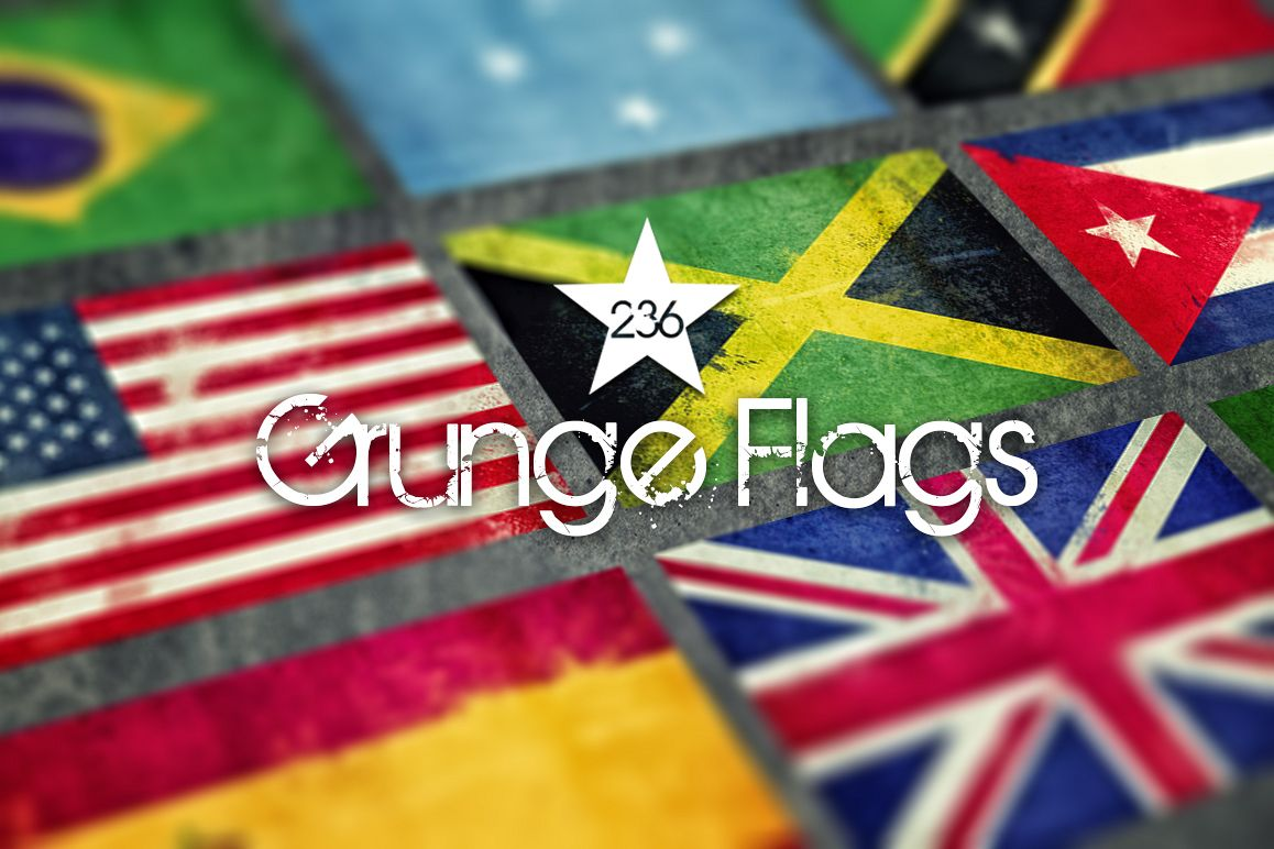 236 Grunge Flags example image 1
