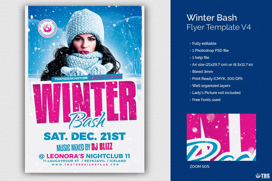 Winter Bash Flyer Template V4 example image 1