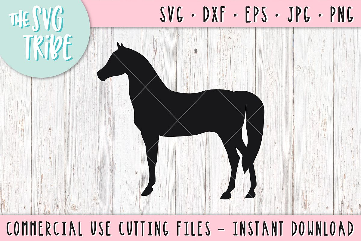 Horse Nature Wildlife SVG DXF PNG EPS JPG Cutting Files