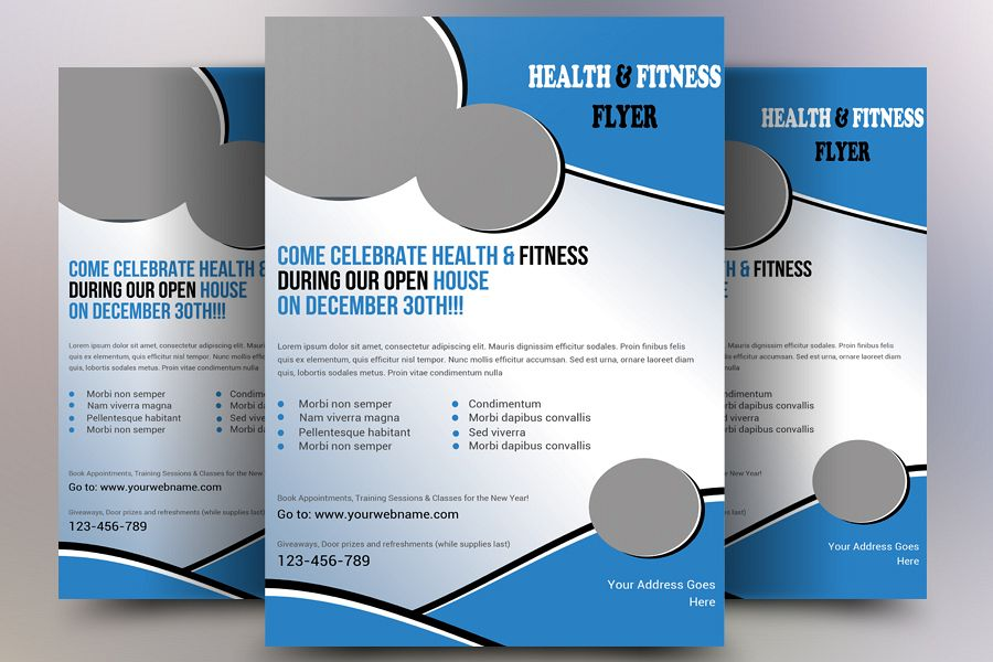 Health and Fitness Flyer example image 1