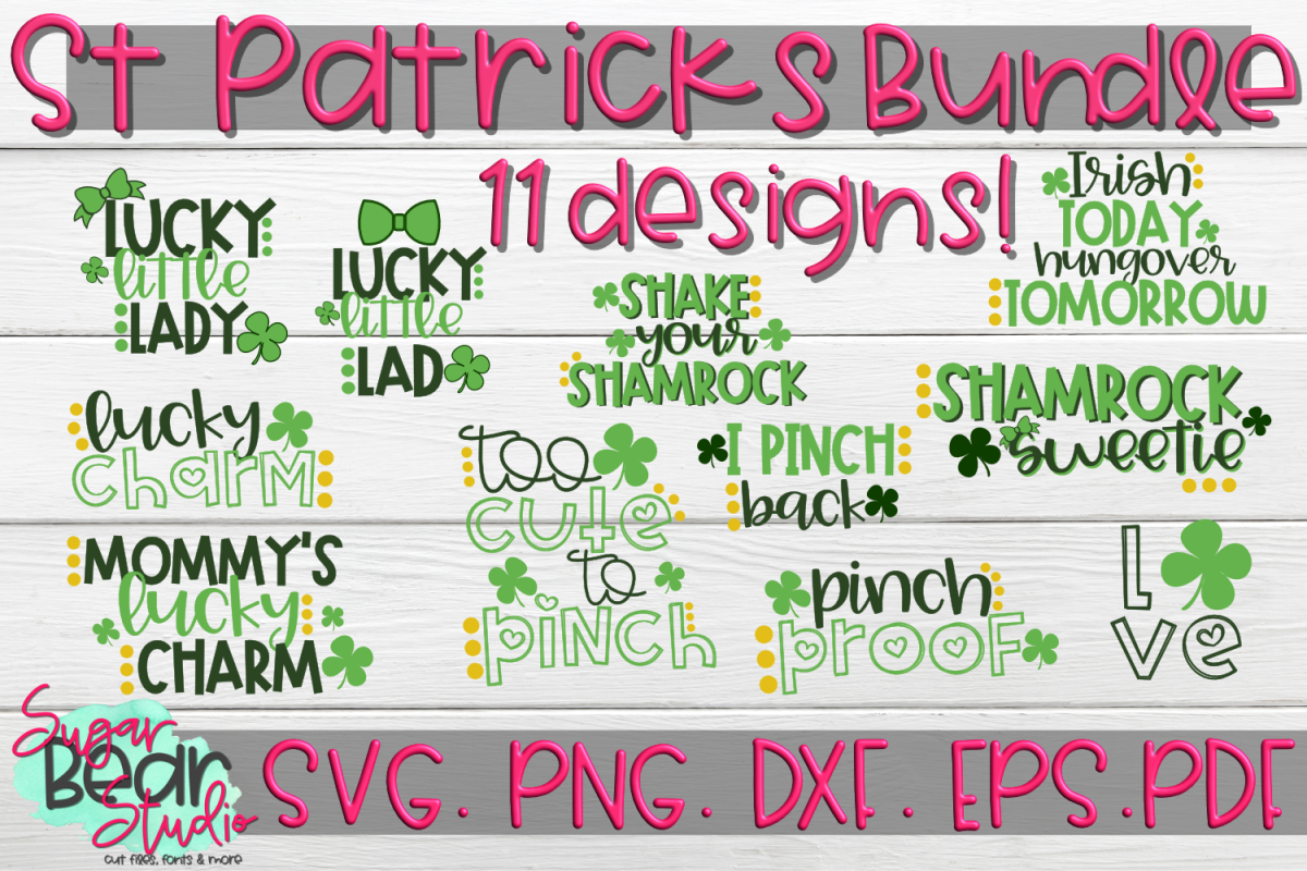 St. Patrick's Day Bundle! 11 Designs! - St. Patricks Day SVG example image 1