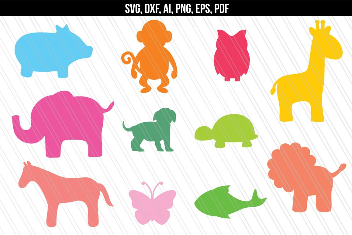 Zoo Animals SVG, Baby Animals Jungle SVG (71304) | SVGs ...