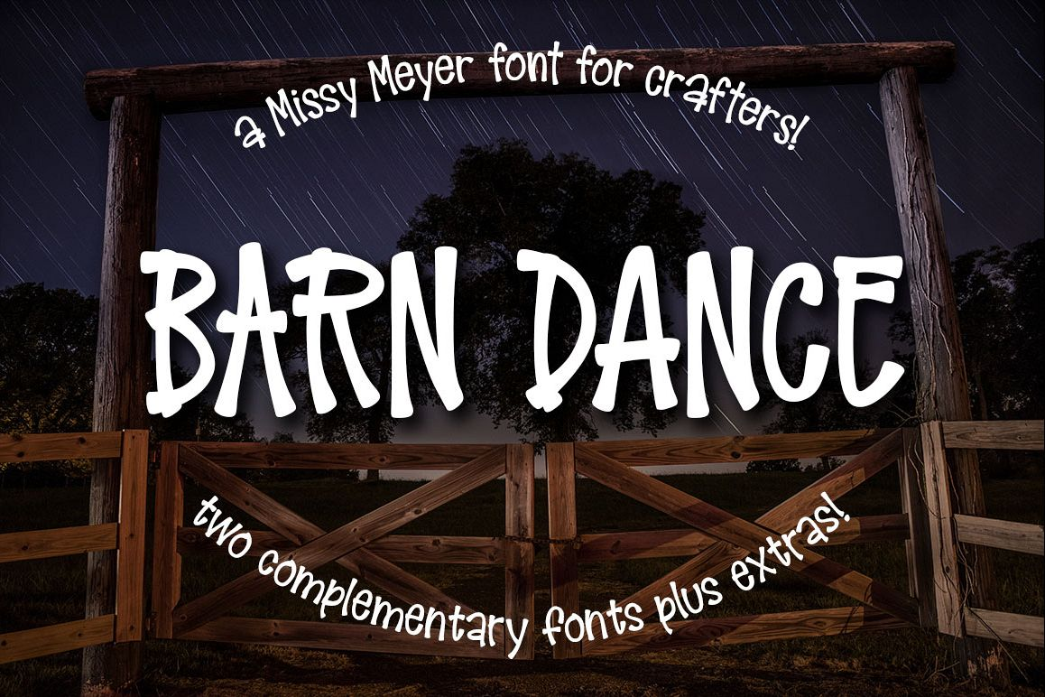 Barn Dance - a homey little font! example image 1