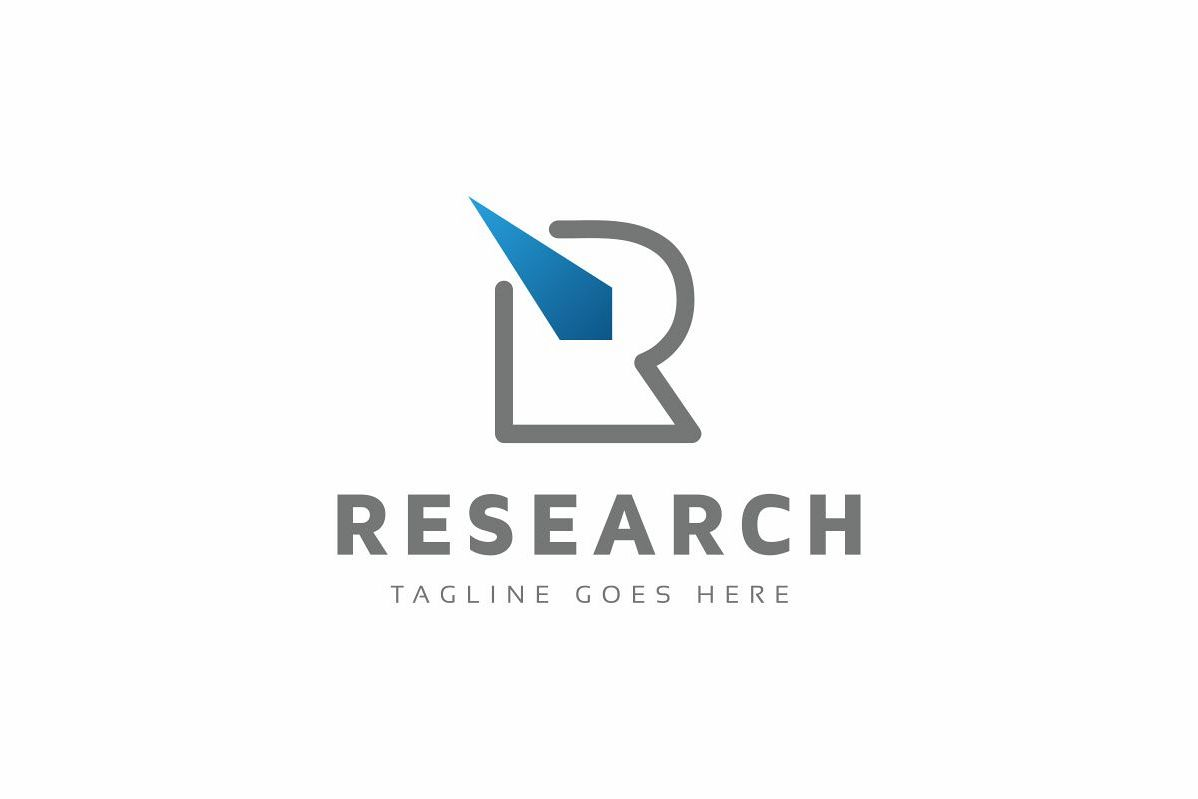 Research R Letter Logo example image 1
