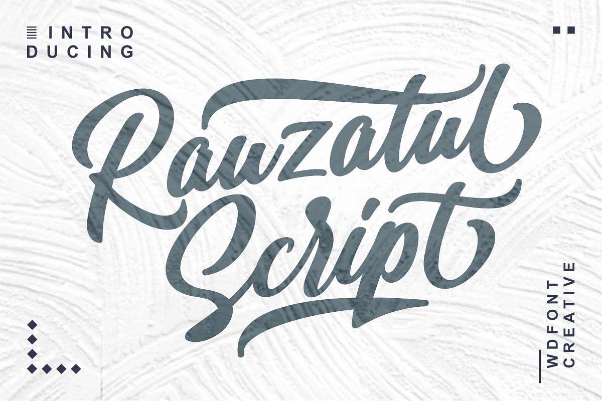Rauzatul Script | Modern Stylish Font example image 1