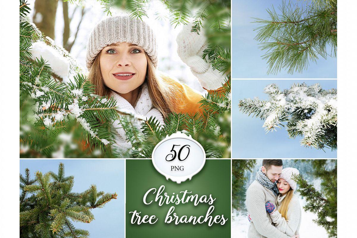 50 Christmas Tree Branch Overlays example image 1