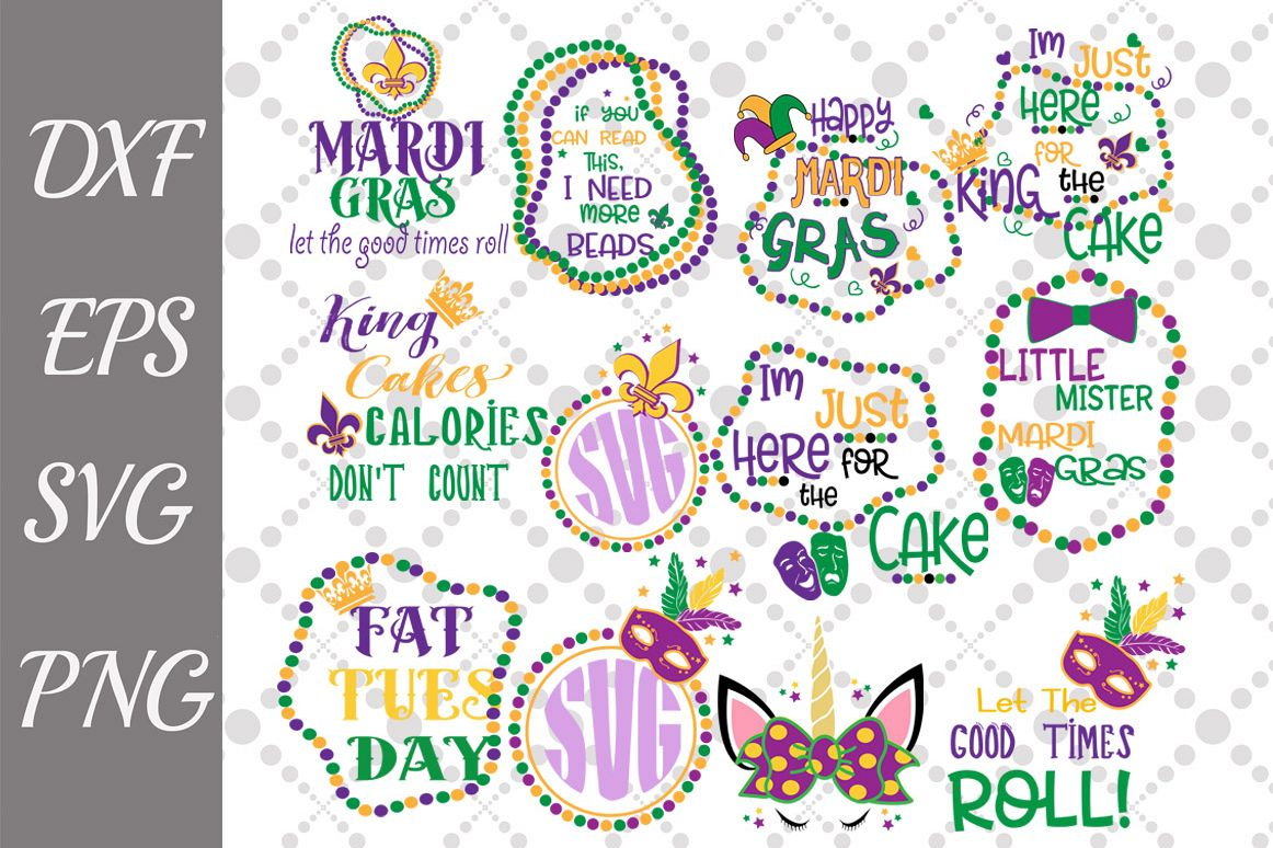 Mardi Gras Svg Bundle, MARDI GRAS SVG, Mardi Gras King Svg example image 1