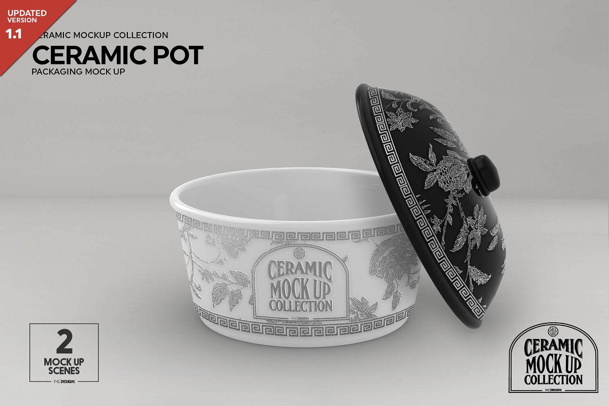 Ceramic Pot Packaging Mock Up example image 1