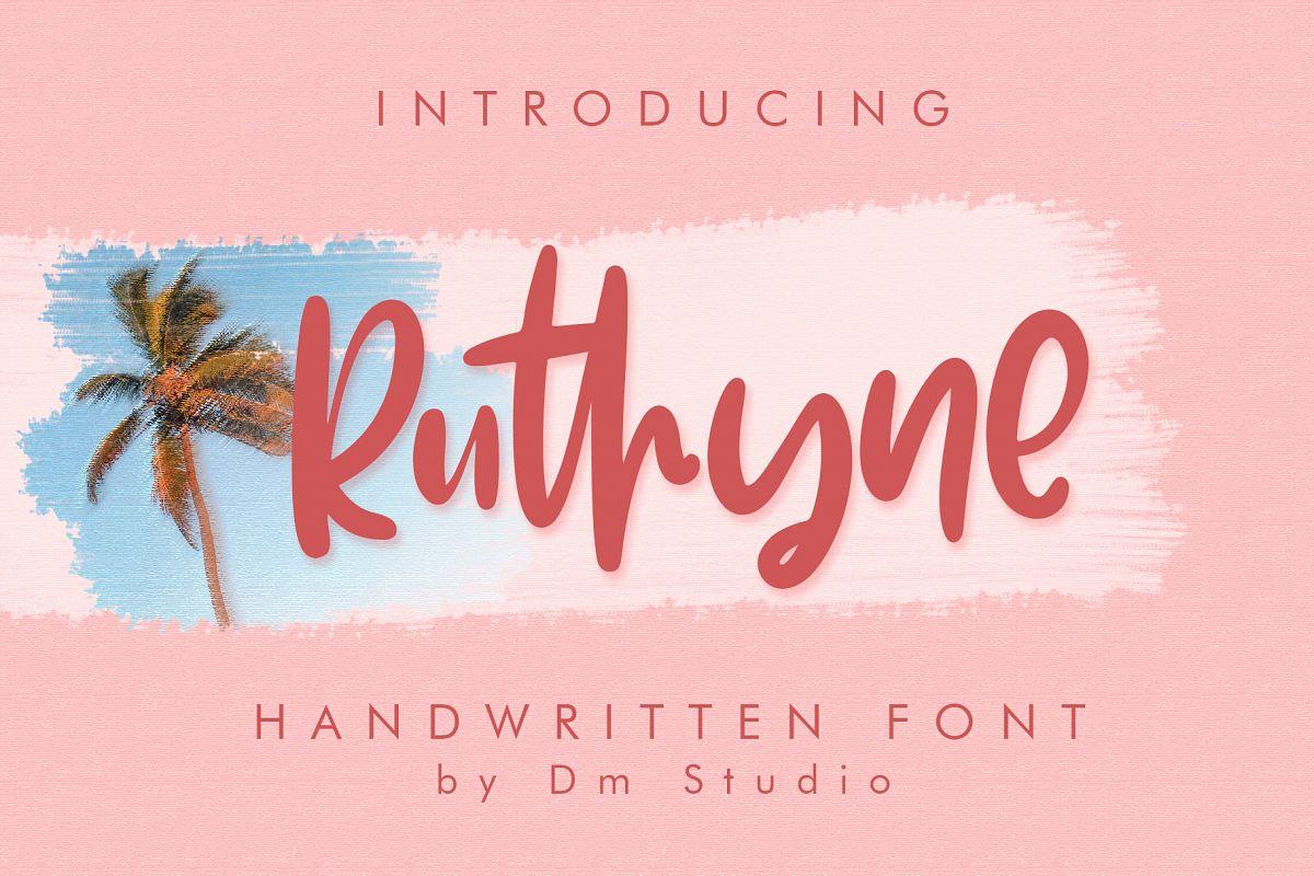 Ruthyne - Handwritten Font example image 1