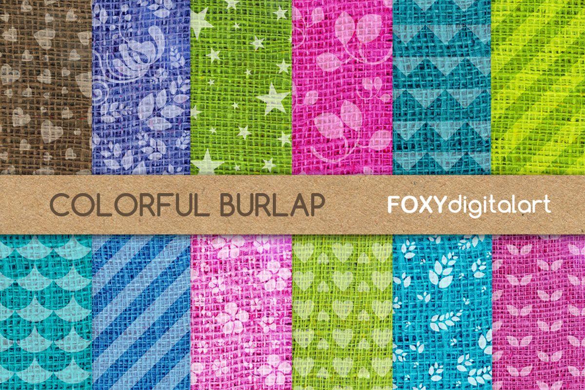 Digital paper burlap linen jute sackcloth canvas texture example image 1