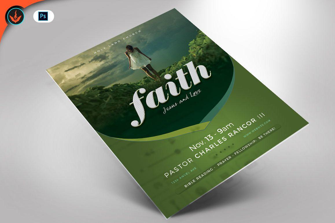 Faith Jesus And Love Church Flyer Photoshop Template
