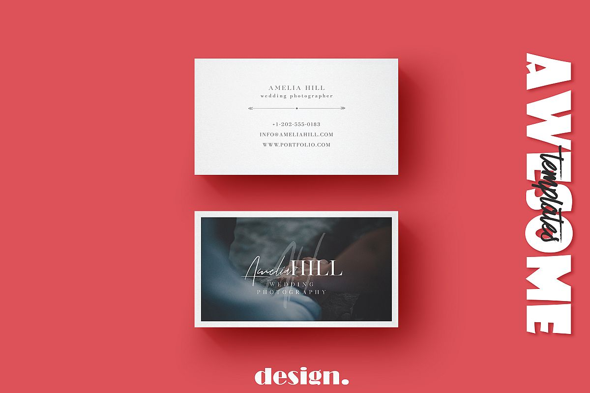 Wedding Photography Business Card example image 1