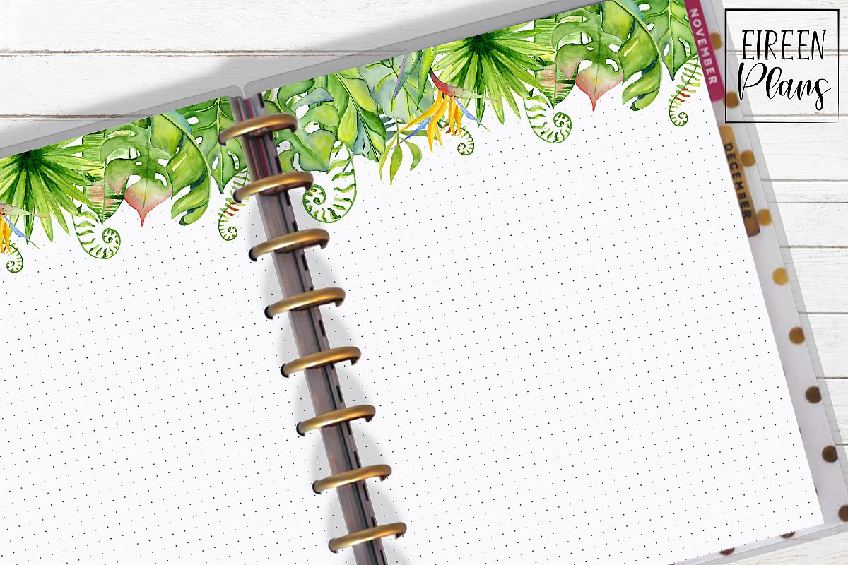 Set of tropical notes for the Classic Happy Planner example image 1