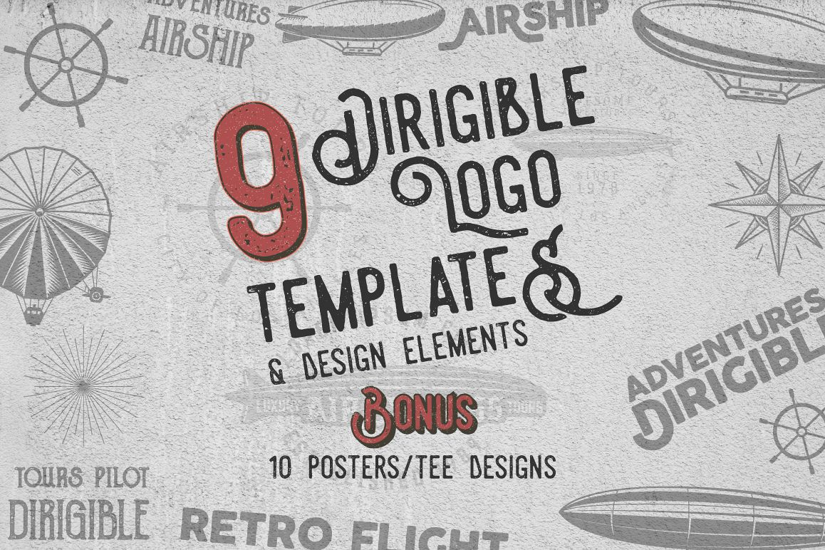 Airship Badges & Design Elements example image 1