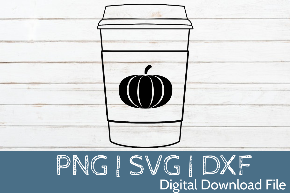 Pumpkin Spice Latte SVG Cut File example image 1