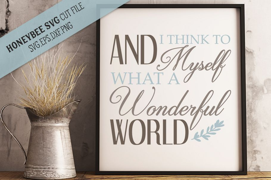 What A Wonderful World svg example image 1