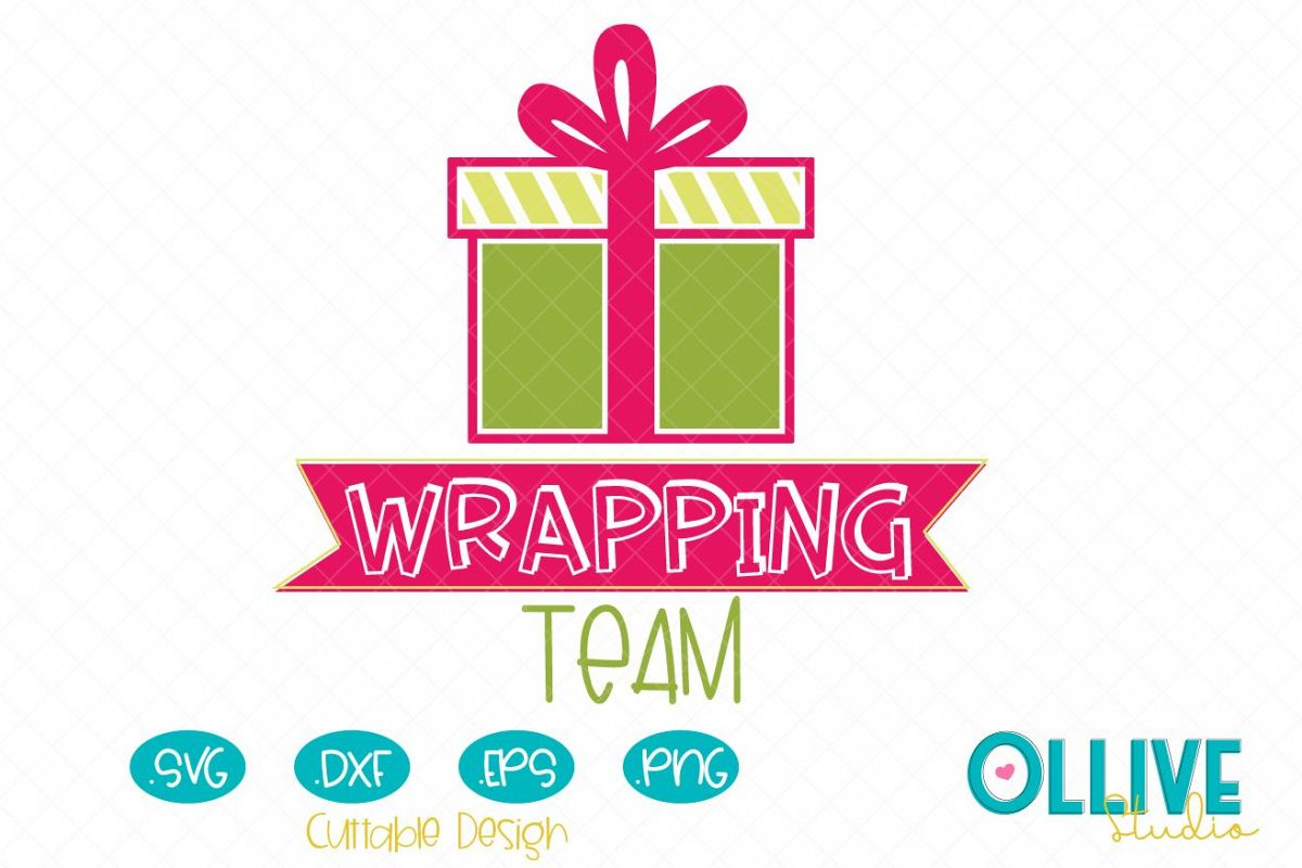 Svg Christmas Wrapping Team example image 1