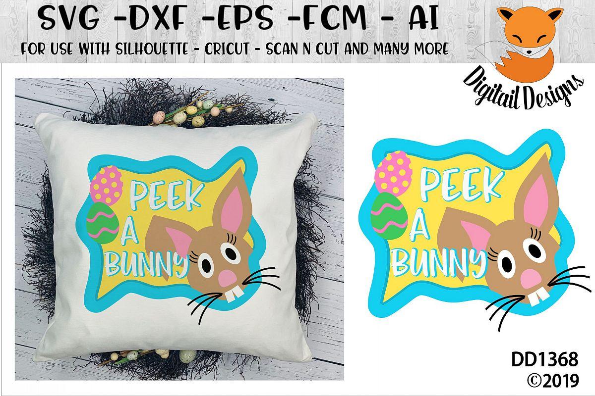 Peeking Easter Bunny SVG example image 1