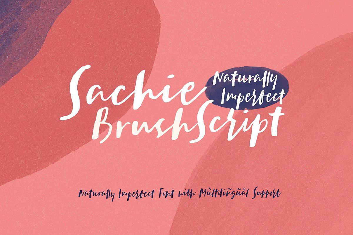 Sachie - Brush Script Font example image 1