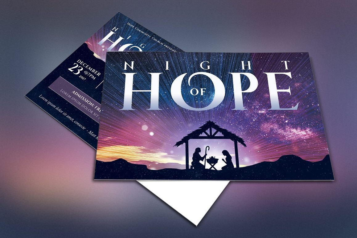 Christmas Hope Cantata Flyer Template example image 1