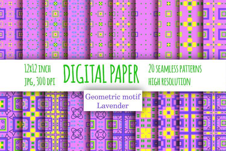 Violet Checkered Digital Paper Lavender Scrapbook Paper