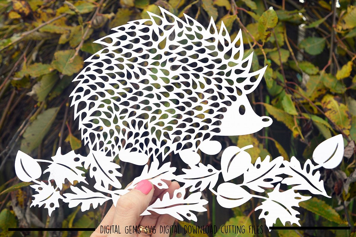 Hedgehog paper cut SVG  DXF  EPS files example image 1