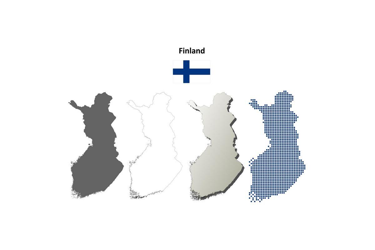 Finland outline map set