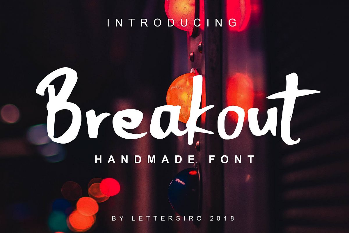Breakout Natural Font example image 1