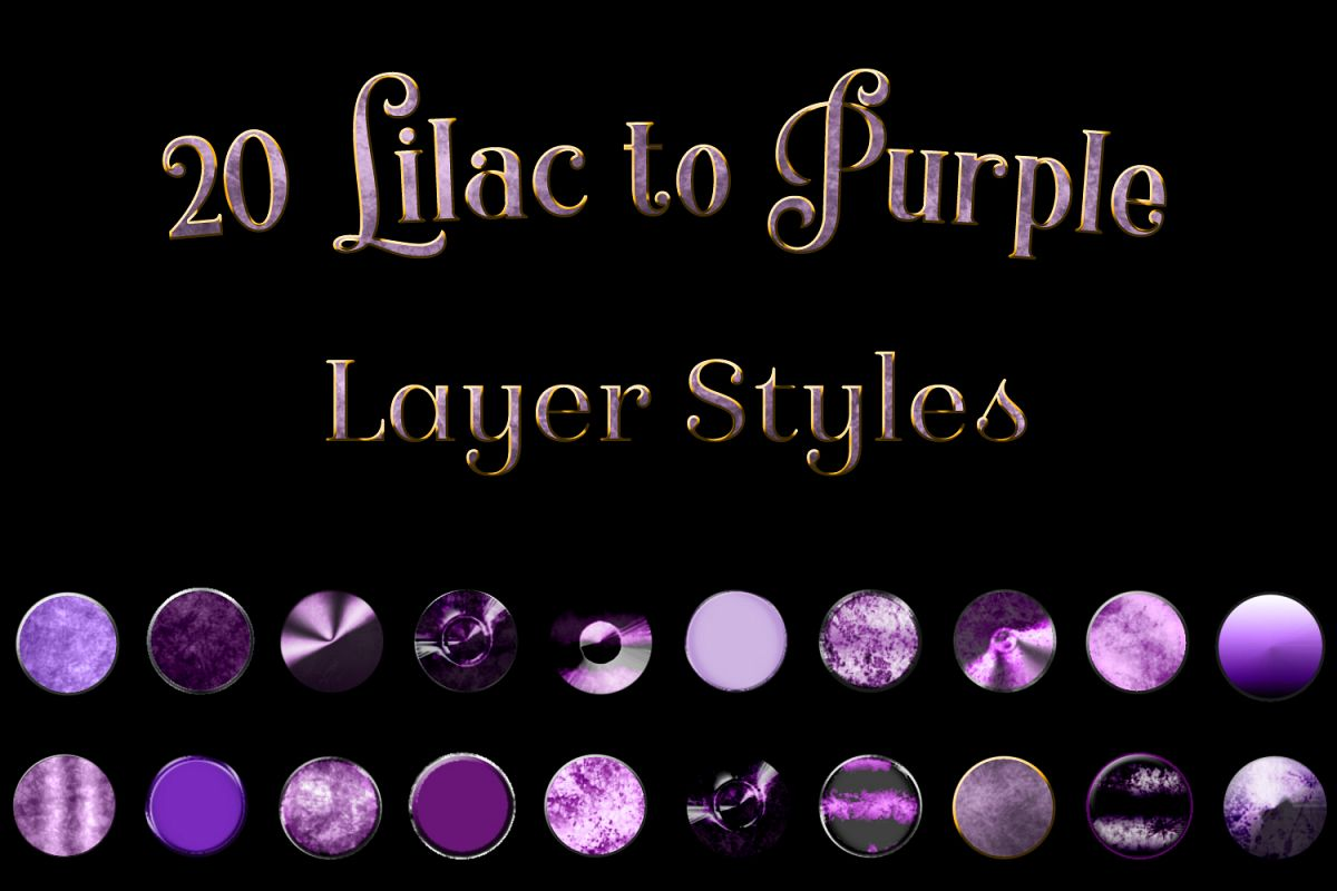 20 Lilac to Purple Layer Styles example image 1