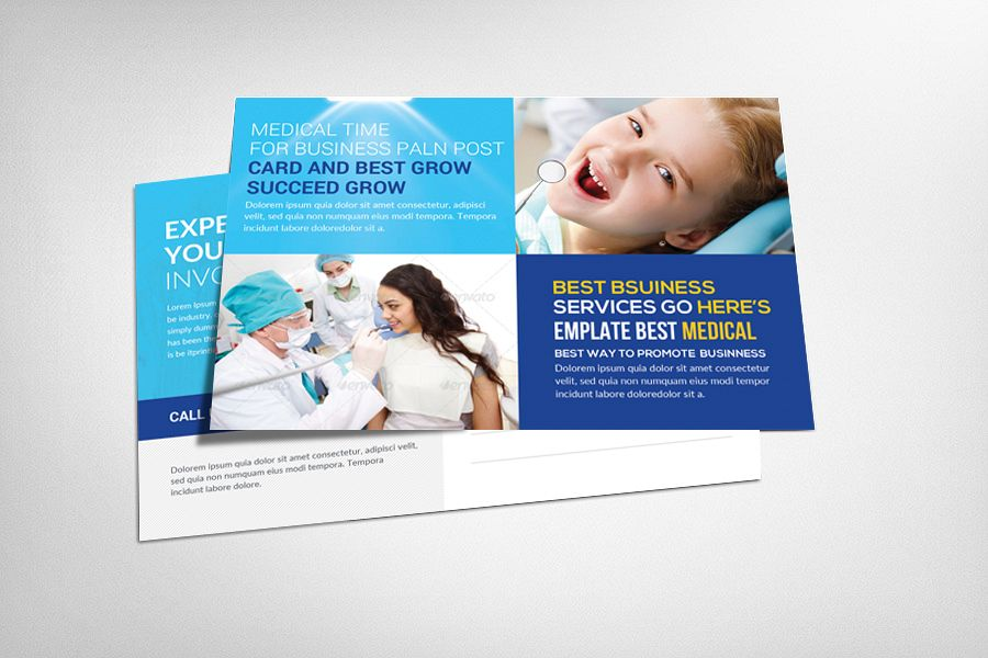 Medical Health Service Postcard Template example image 1