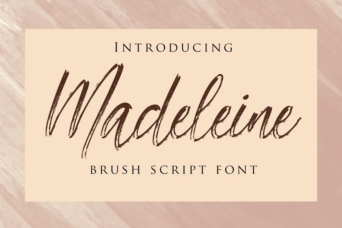 Madeleine - Brush Script Font example image 1